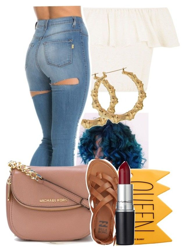 """6/9/16"" by lookatimani ❤ liked on Polyvore featuring MICHAEL Michael Kors, Billabong and M.A.C"
