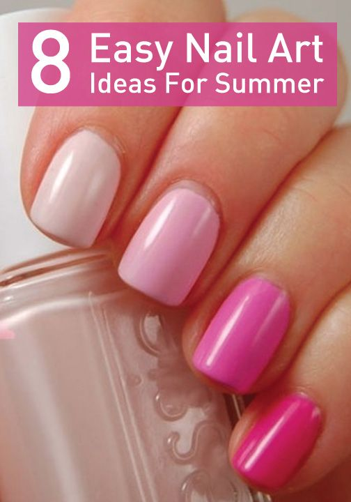 Love these ombré pink nails. You could do them with a different color too.