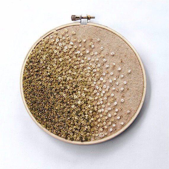Вышивка французским узелком с добавлением бисера SKRMASTER.BY — Handmade ярмарка Беларусь