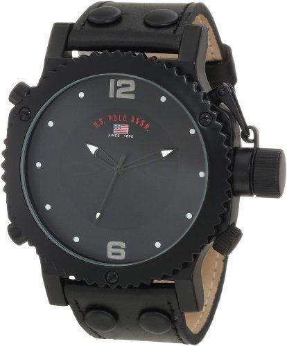 U.S. Polo Assn. Classic Men's US5211 Black Analog Watch - http://www.watchesandstuff.com/u-s-polo-assn-classic-mens-us5211-black-analog-watch/