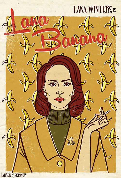 american horror story Illustration AHS design My art retro jessica lange graphic design movie poster screenprint film poster sarah paulson asylum maniac silkscreen kit walker Sister Jude lana winters bloody face oliver thredson lana banana The Name Game wendy peyser briarcliff cordelia foxx