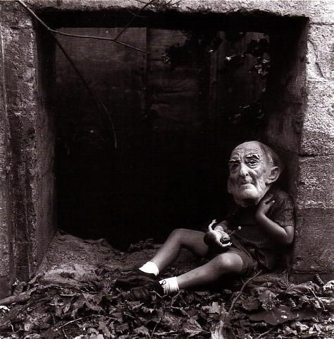 ralph eugene meatyard has some of the most beautiful and eery photographs i've ever seen. he is one of my favorites.