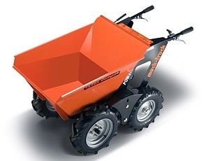 Muck Truck Power Barrow for builders landscapers and ground workers. The 4WD Muck Truck power barrow moves building materials over most terrain.  The Muck Truck is used by builders, landscapers and tree surgeons.  http://www.fresh-group.com/muck-truck.html