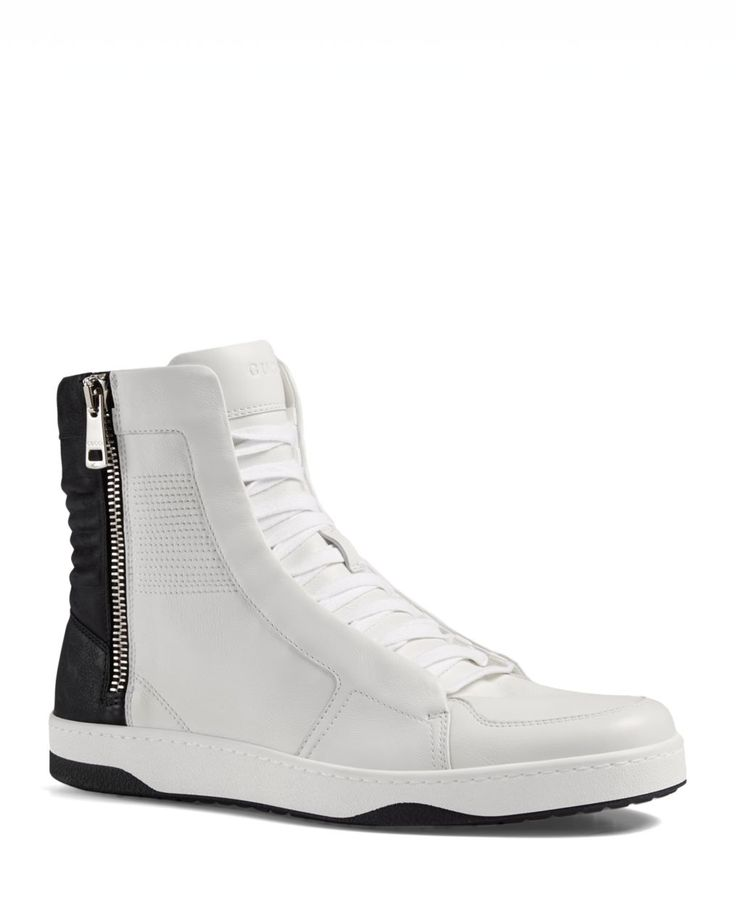 Gucci Hudson Side Zip High Top Sneakers