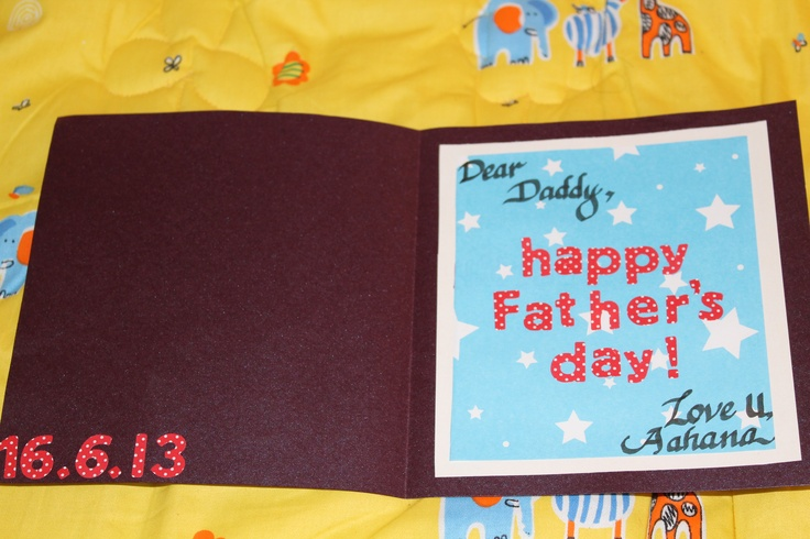 Inside the Card for Father's day!