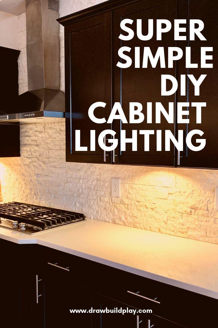 Diy Under Cabinet Lighting Cabinet Lighting Diy Cabinets Diy
