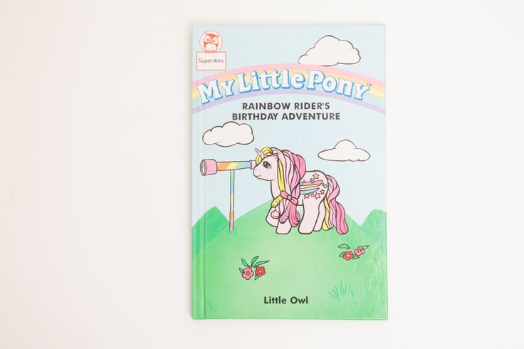 My Little Pony Rainbow Rider's Birthday Adventure - Vintage Book 1991 by PenelopeCatVintage on Etsy