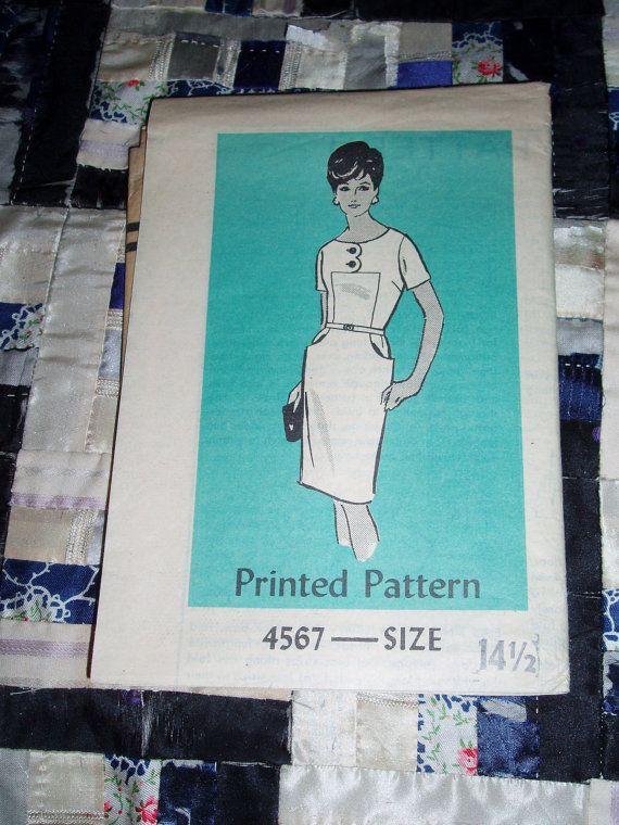 Vintage 1960s Mail Order Designer Pattern 4567 for Misses