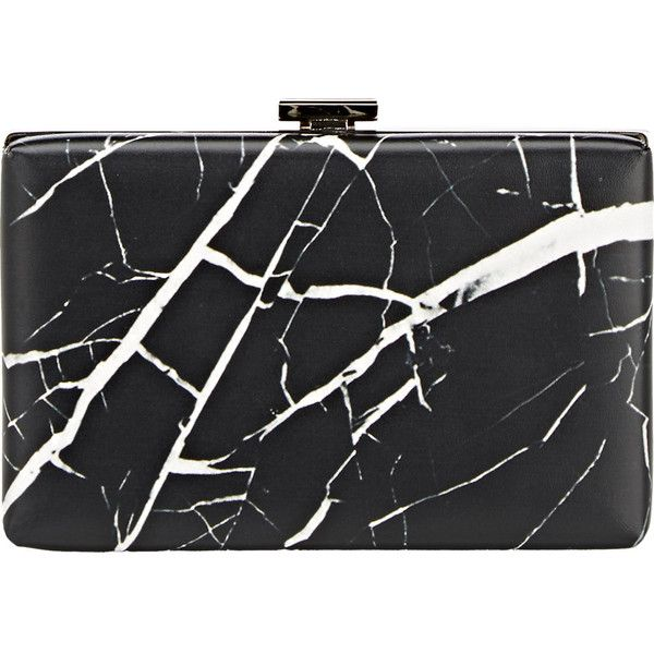 Balenciaga Marble-Print Le Dix Minaudiere ($1,255) ❤ liked on Polyvore featuring bags, handbags, clutches and colorless
