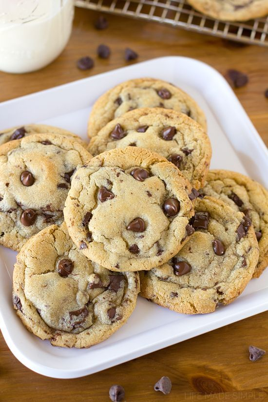 The Best Bakery Style Chocolate Chip Cookies Recipe