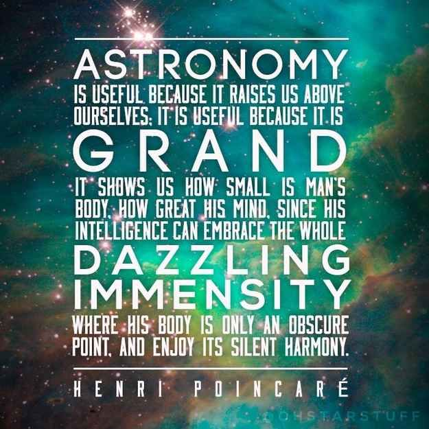 """Astronomy is grand 