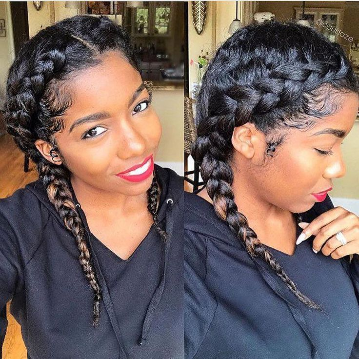 We are obsessed with braids for the holidays! Curl…