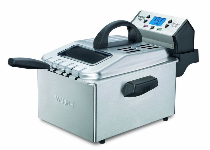 Waring Pro DF280 1800 Watt With Digital Timer Deep Fryer Brushed Stainless  Steel