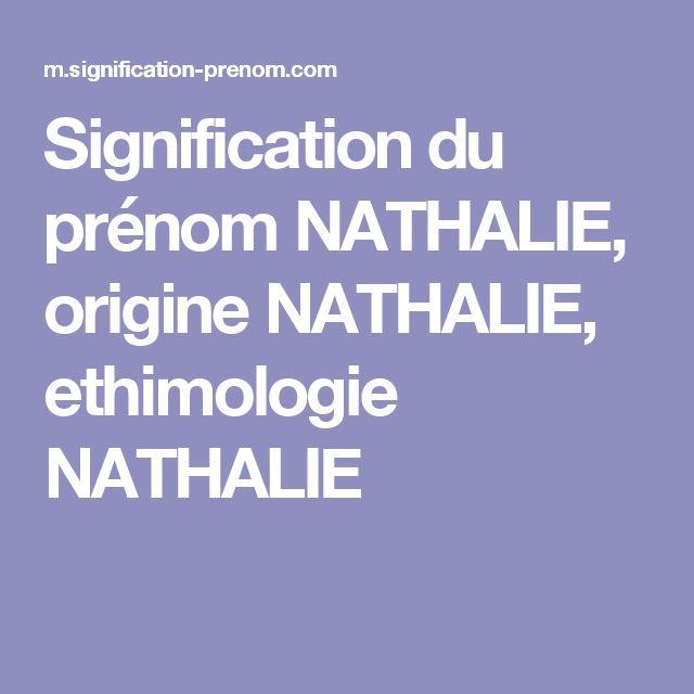 Signification du prénom NATHALIE, origine NATHALIE, ethimologie NATHALIE