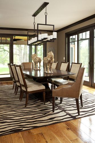 Best Paint Color + Dark Wood Trim Design, Pictures, Remodel, Decor And Ideas.  Transitional Dining ...