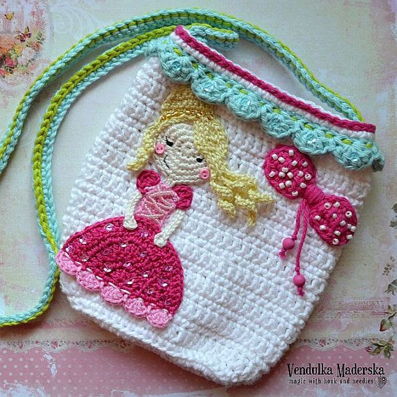 Crochet princess purse  crochet pattern DIY di VendulkaM su Etsy