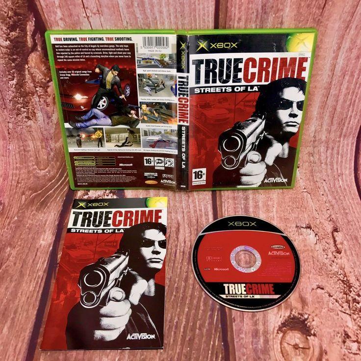 Xbox Game True Crime Streets Of LA 16+ pal video games action adventure vgc