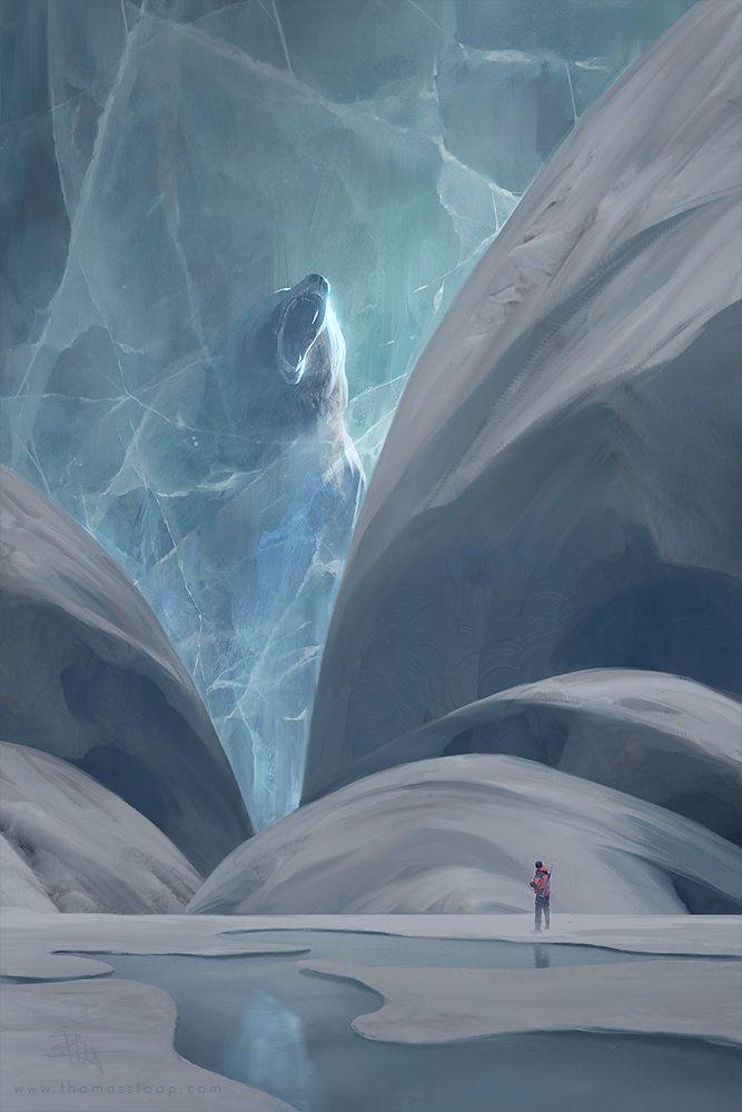 une créature des temps anciens figée dans la glace                                                                                                                                                      Plus