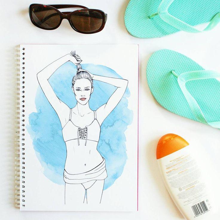 #summer #illustration #drawing