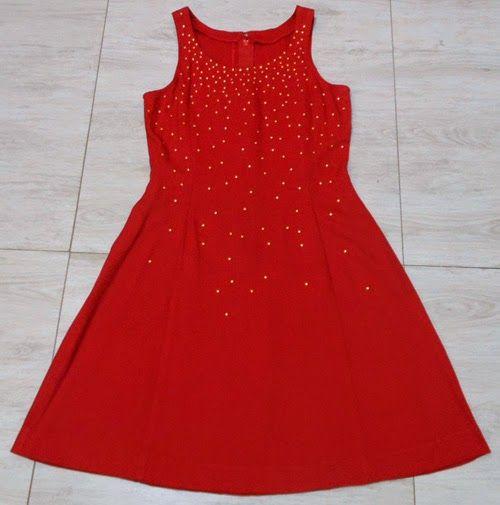 Como customizar vestido vermelho