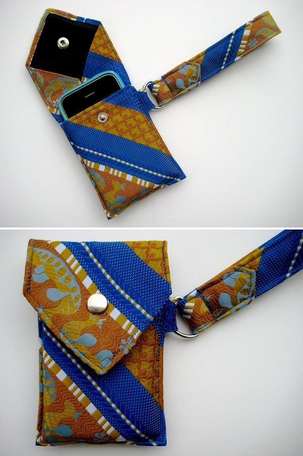A necktie upcycling tutorial.  Could do this for my camera.