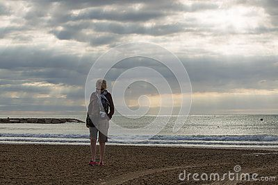 Woman On A Deserted Beach - Download From Over 30 Million High Quality Stock Photos, Images, Vectors. Sign up for FREE today. Image: 35492793
