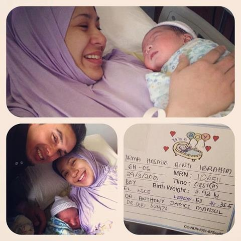 Gambar Bayi Lelaki Irma Hasmie Dan Ayu Raudhah