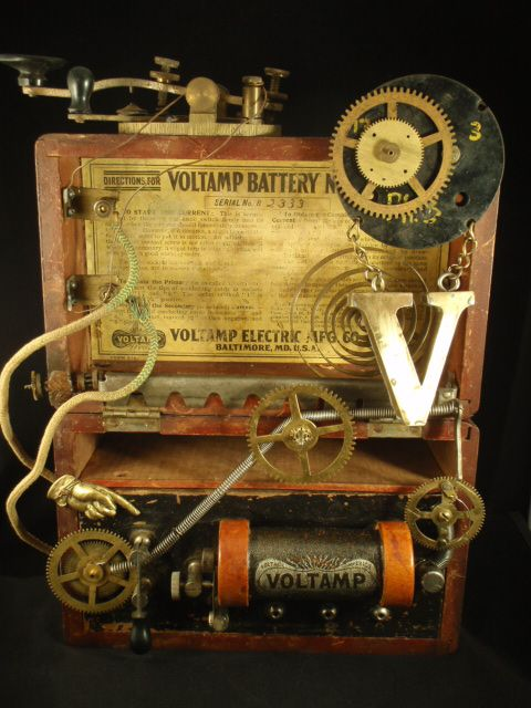 "Steampunk design - ""Voltmeter"" assemblage by Jennifer Campbell"