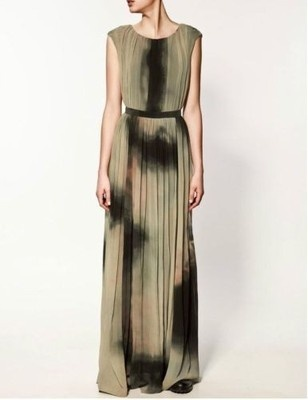 Zara Tie Dye Maxi Dress January 2017
