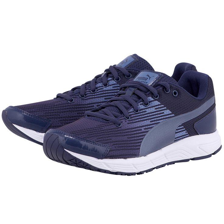 Γυναικεία running αθλητικά παπούτσια της Puma, από mesh και λεπτομέρειες από συνθετικό δέρμα για καλύτερη κυκλοφορία του αέρα και στήριξη, με υφασμάτινη εσωτερική επένδυση mesh για καλύτερη αναπνοή. Διαθέτει αφρώδες καλούπι και ενδιάμεση σόλα EVA που απορροφά τους κραδασμούς. Η εξωτερική σόλα με λάστιχα EverTrack προσφέρει αντοχή στις περιοχές μεγαλύτερης καταπόνησης και διαθέτει κάθετες αυλακώσεις που προσφέρουν μεγαλύτερη ευλυγισία και ελευθερία στην κίνηση. Σε μωβ χρώμα, είναι ιδανικά για…