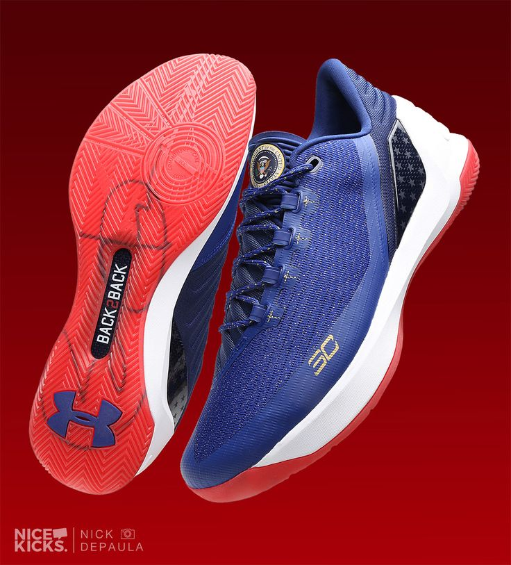"""Exclusive // Stephen Curry Honors President Obama's """"Back2Back"""" Terms With Under Armour Curry 3 PE 