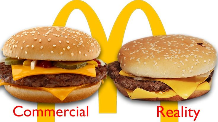 Just kidding!!  McDonald's Ad vs The Real Thing