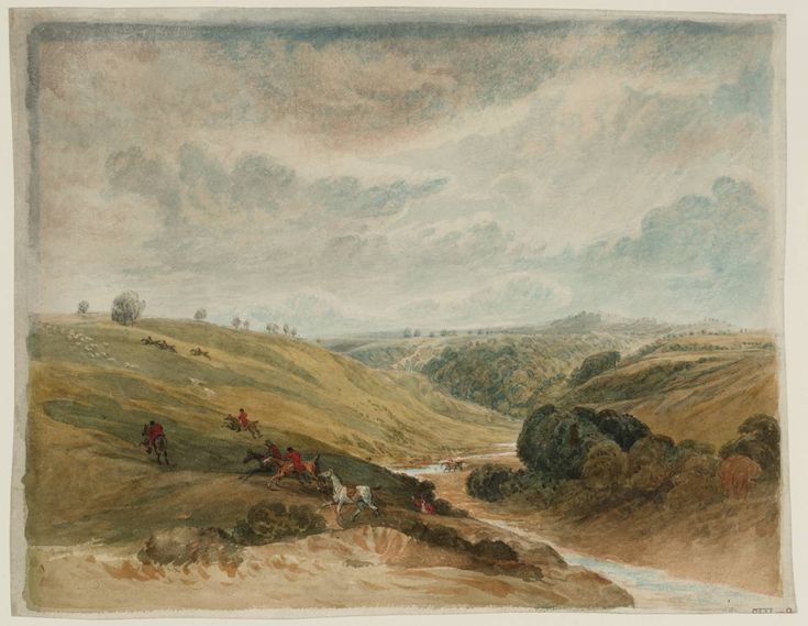 "Barbara spent her childhood exploring the surrounding Yorkshire countryside, sketching flowers and especially the horses on her uncle's farm. Barbara delighted in her lack of formal art training: ""I have been very lucky, as my career in drawing is also my favourite hobby."" (Painting: ""Vale of Pickering"" by William Turner)"
