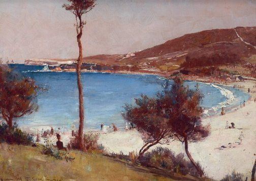 Holiday sketch at Coogee - Tom Roberts