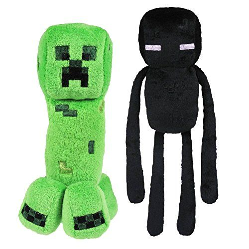 "Official Minecraft Overworld 7"" Creeper & 10"" Enderman Plush SET of 2 Jazwares http://www.amazon.com/dp/B00F67LPKG/ref=cm_sw_r_pi_dp_7vWkvb0P58N0C"
