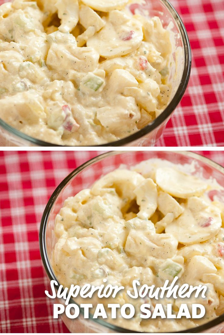 Superior Southern Potato Salad: This Southern superior potato salad will knock off your socks and leave you running back to the table for seconds. You can't get more out of comfort food as you do with this! #FoodLion