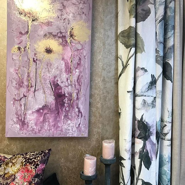#tekstiler #gardiner #gardinsøm #systue #interiørbutikk #malerier @brittliseart #designersguild
