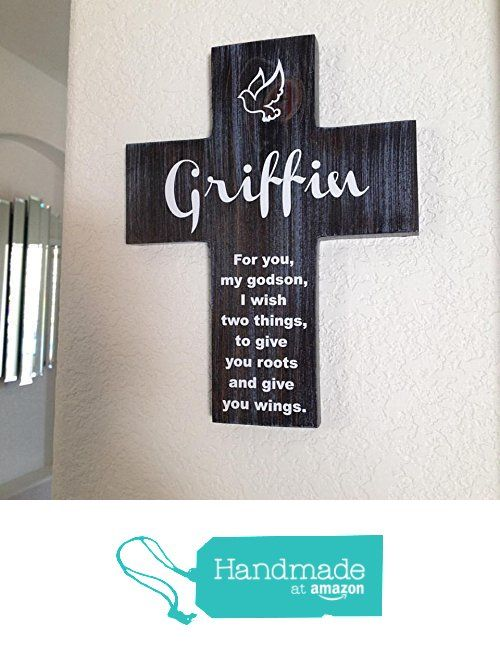 252 best crosses images on pinterest small businesses baptism godson cross personalized with his name on pine wood w dove roots wings first birthday giftsfirst communion giftsgodparent negle Gallery