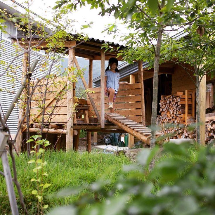 庭の秘密基地 #庭 #小屋 #田舎暮らし