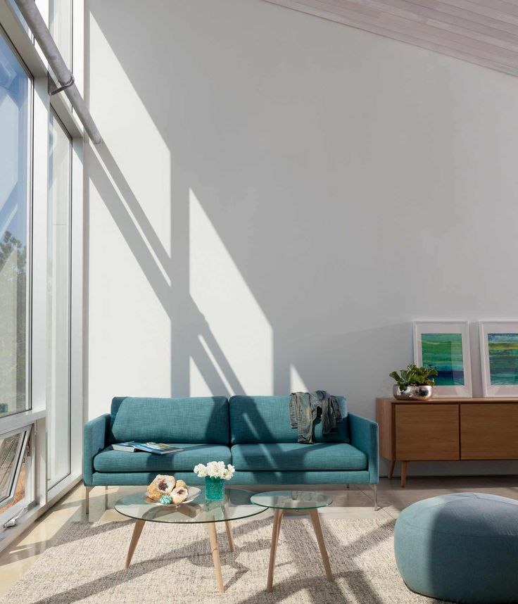 To Refresh Your Spaces For Summer, Try Tranquil Shades Of Aqua And Blue  With Light Oak.