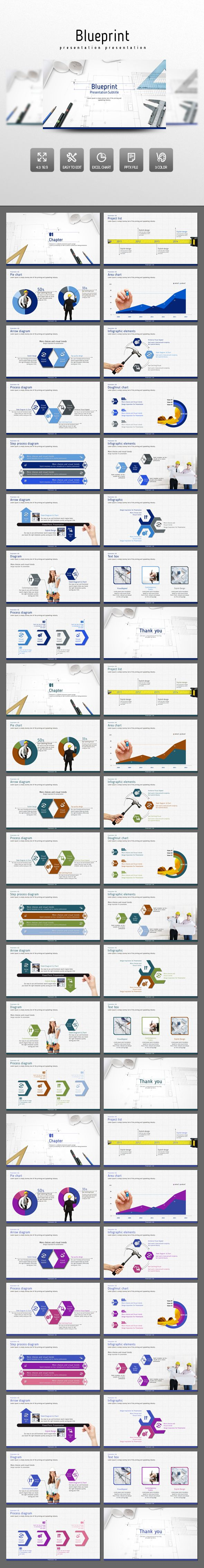 Blueprint PowerPoint Presentation Template #design #slides Download: http://graphicriver.net/item/blueprint/14137250?ref=ksioks