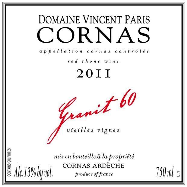 Domaine Vincent Paris Cornas Granit 60