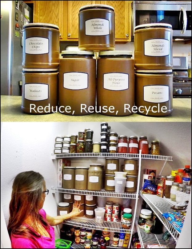 Makeover Plastic Containers for Food Pantry Storage The Homestead Survival - Homesteading -
