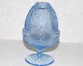 Vintage Ice Blue Tiara Fairy Lamp Light