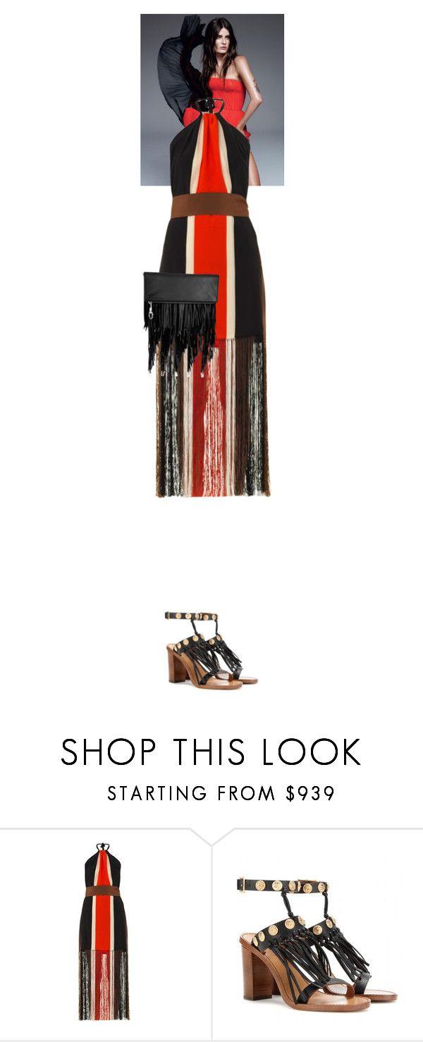 """Florence Rose Endellion #5754"" by canlui ❤ liked on Polyvore featuring Fendi, Valentino, Elizabeth and James, fringe, fringebag, fringes and fringebags"