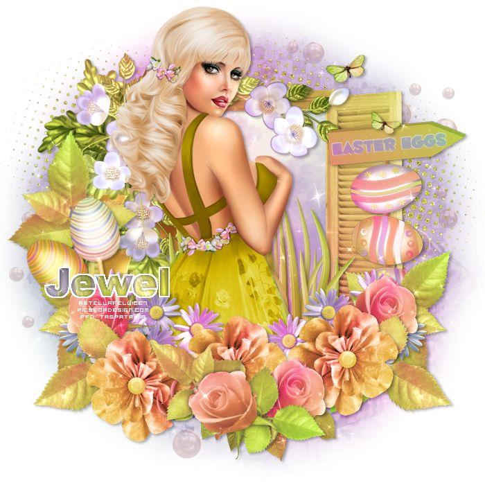 """* FTU Kit - """"Sparkling Easter"""" de Lorenzen Design  * Masque WSL_Mask362 de Weescotslass Creations * Tube de votre choix Le tube PTU q..."""