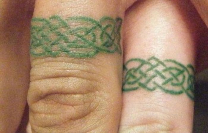 Ring tattoos for couples21 Ring tattoos for couples