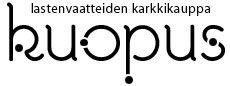 Kuopus - lasteen vaate- ja tarvikeliiken logo