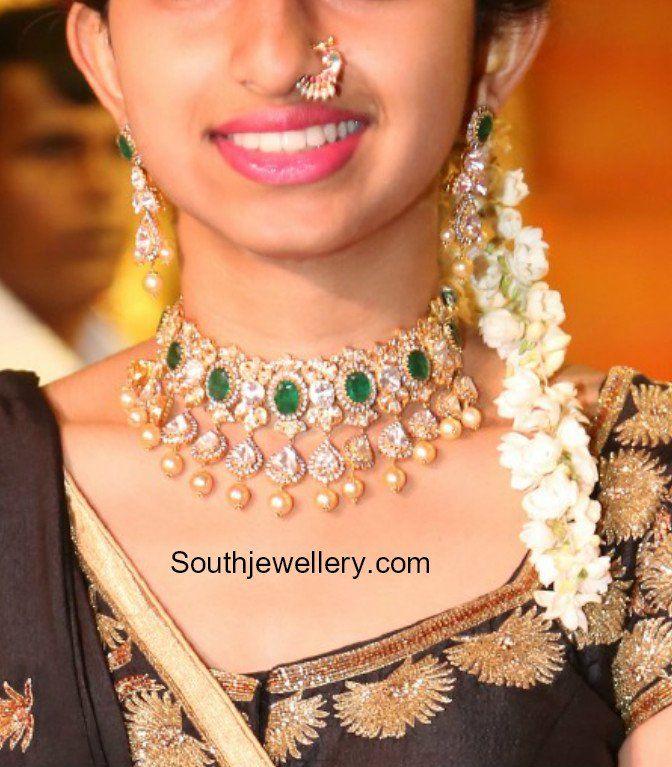 Polki Emerald Choker Set Photo Gold Jewelry Fashion Diamond Jewelry Necklace 22 Carat Gold Jewellery