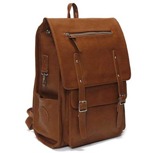 Tan backpack for College Mens Backpacks for Laptops Toppu 282 | chanchanbag.com | Modern design makes you feel satisfied Stylish Tan backpack.